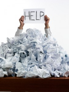 iStock help sign with paper